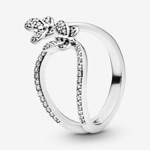 🍓Pandora Sparkling Butterfly Open Ring